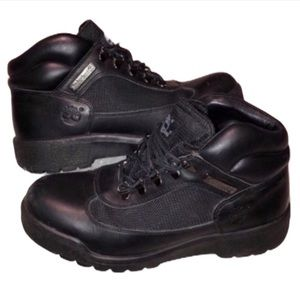 Timberland Black Waterproof Leather Field Boots